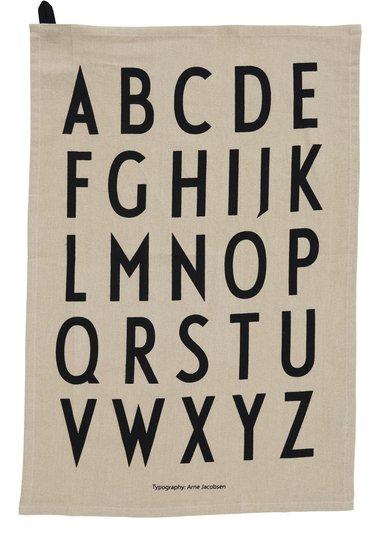 Design Letters Kjøkkenhåndklær, Beige