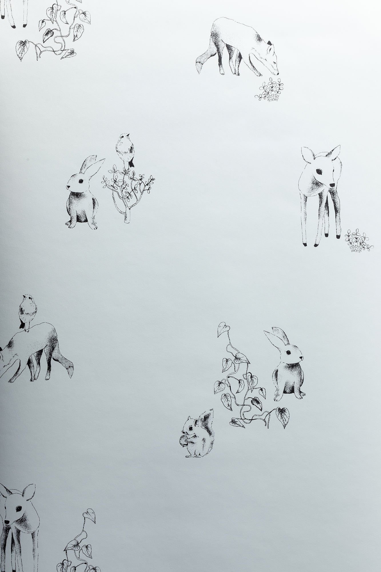 Lilou Lilou Tapetti Nature Animals, Vihreä