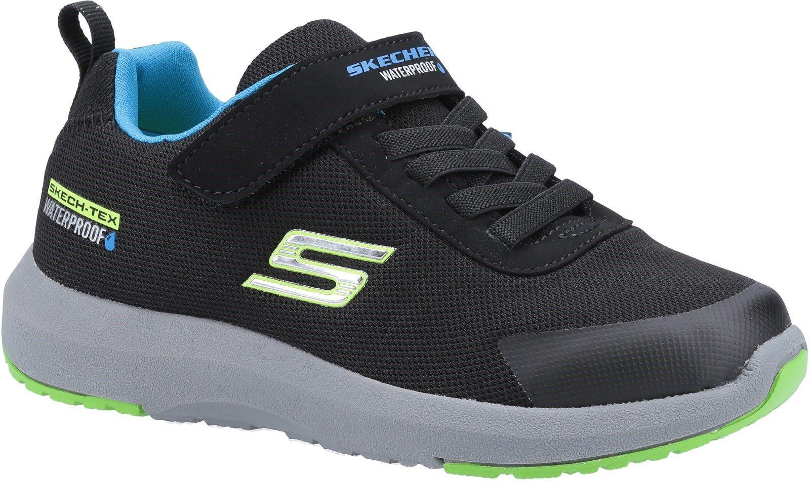 Skechers Kid's Dynamic Tread Sports Trainer Various Colours 31173 - Black 9.5