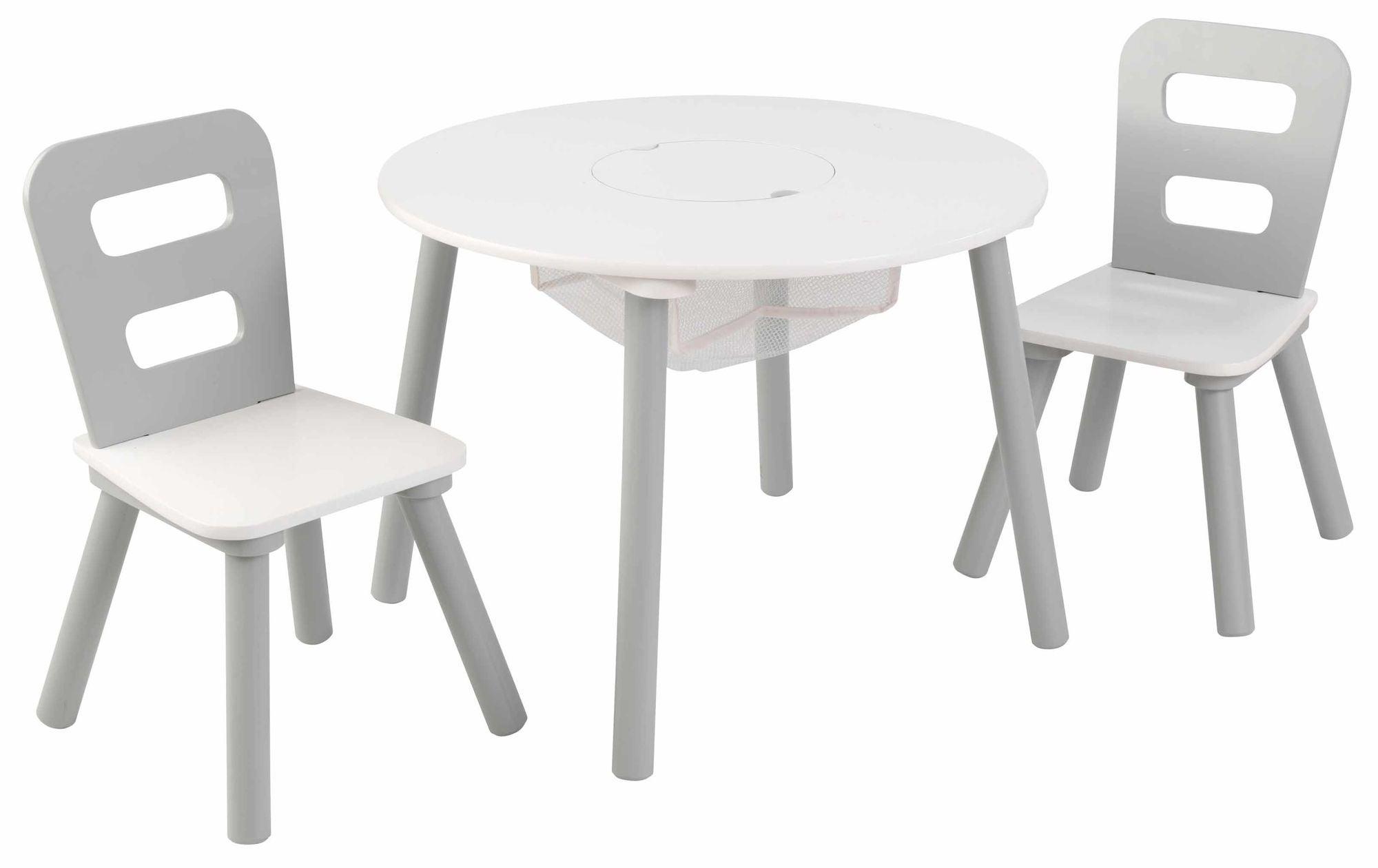 KidKraft Pöytä & Tuolit, Harmaa/Valkoinen