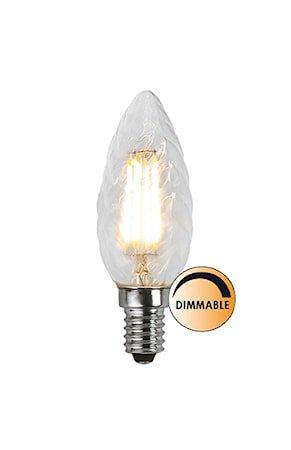 Lyskilde LED Filament Kron Vridd Klar 4,2W Dimbar E14