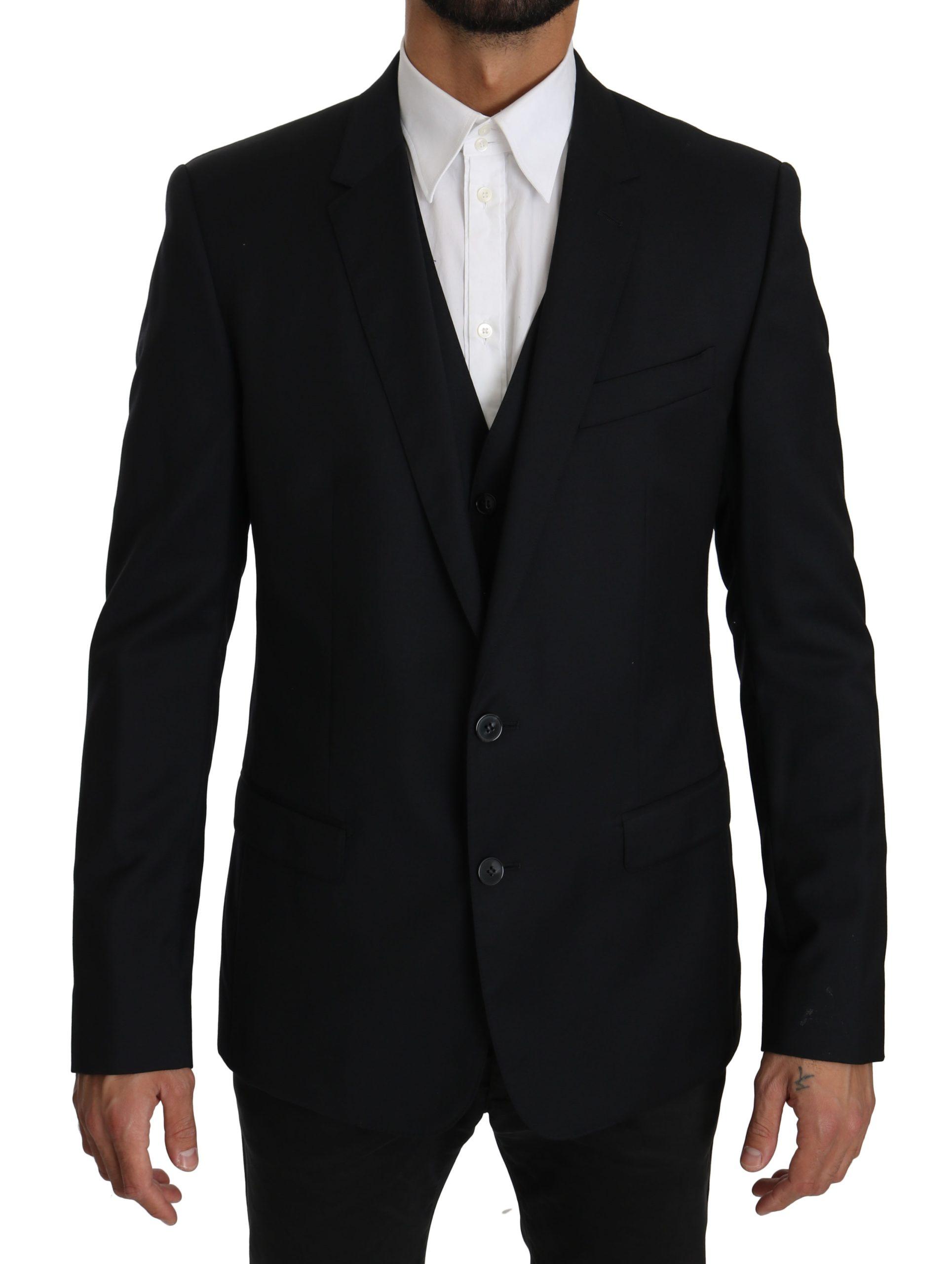 Dolce & Gabbana Men's Two Piece Vest Jacket MARTINI Blazer Blue KOS1602 - IT50   L