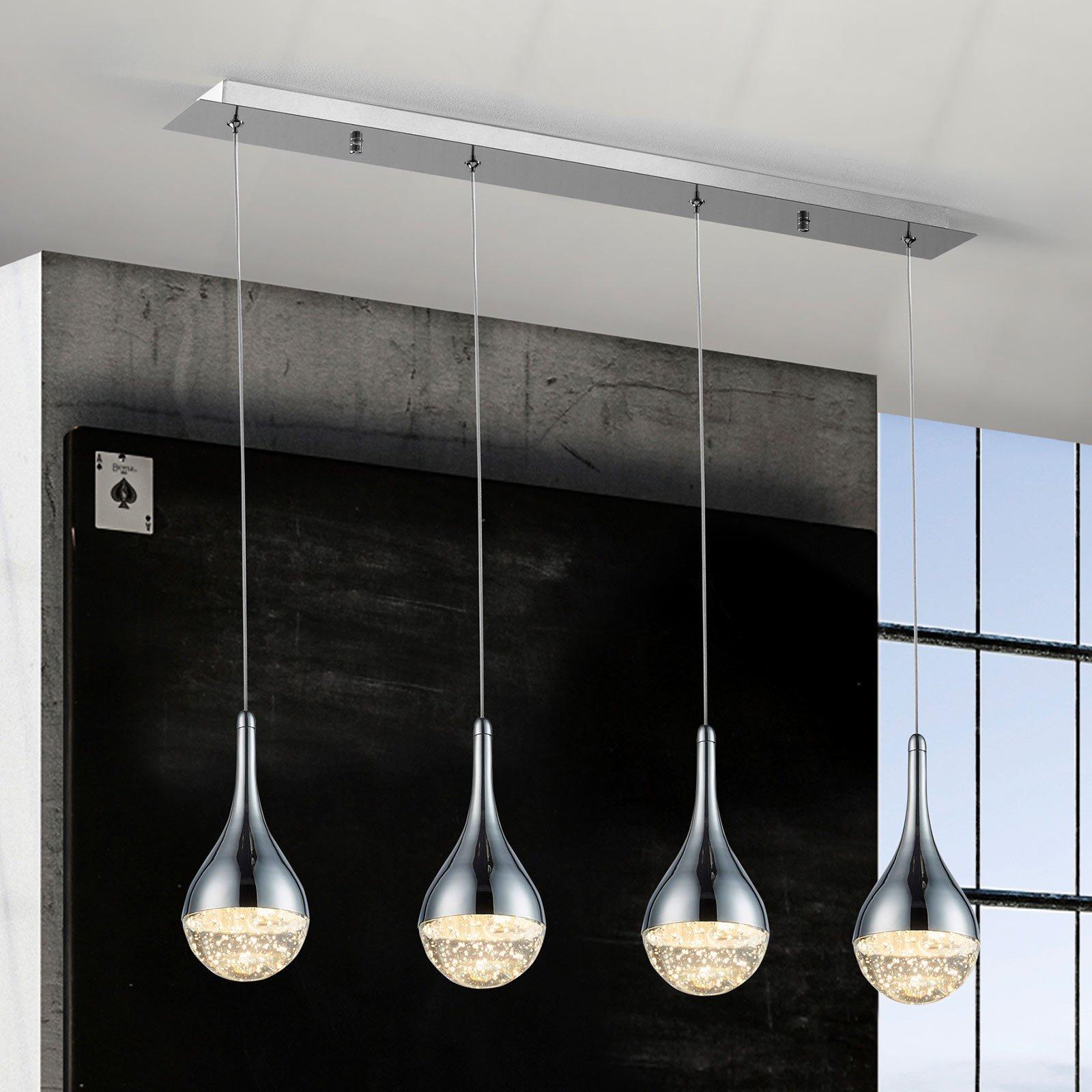 Elie LED-pendellampe, 4 lyskilder