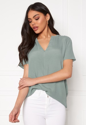 ONLY Molly SS V-Neck Chinois Green 34