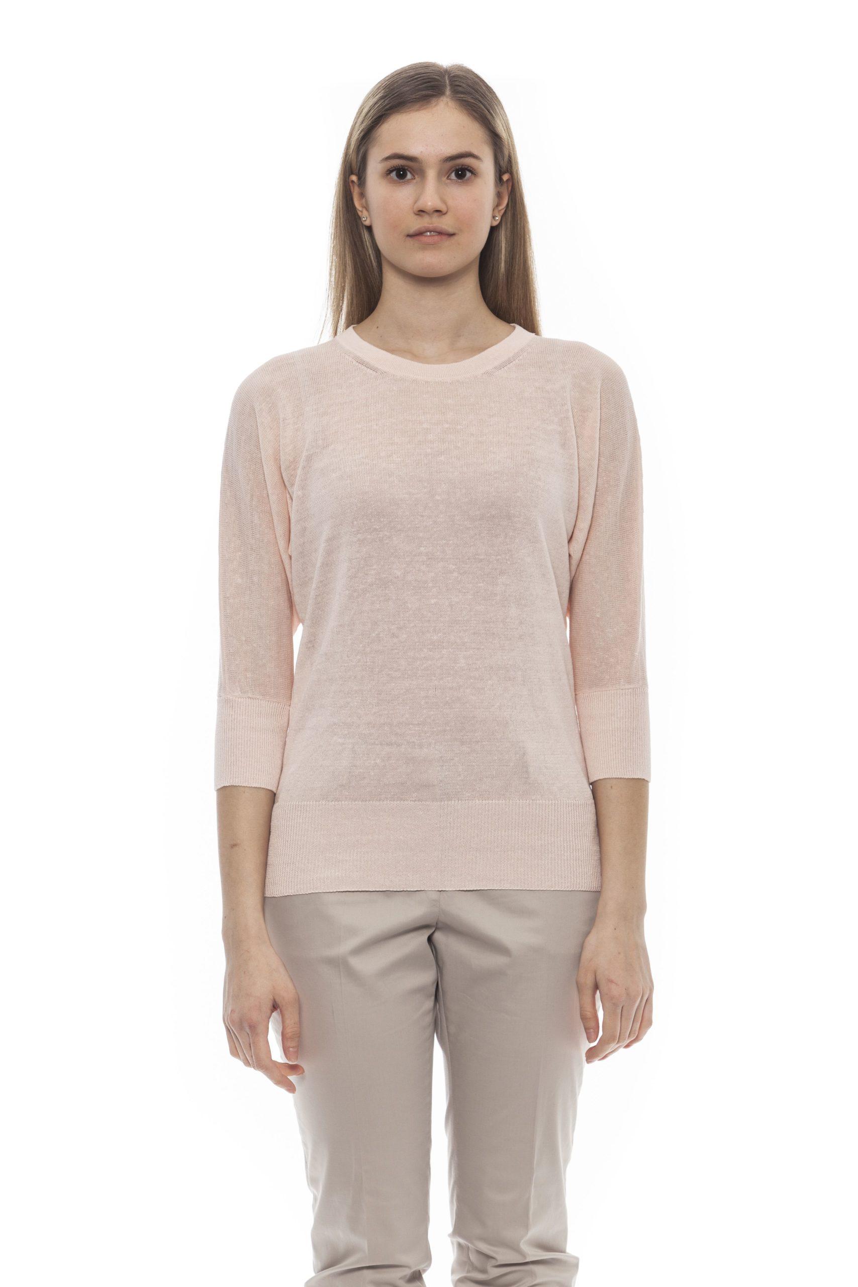 Peserico Women's Rosa Sweater Pink PE1382022 - IT42 | S