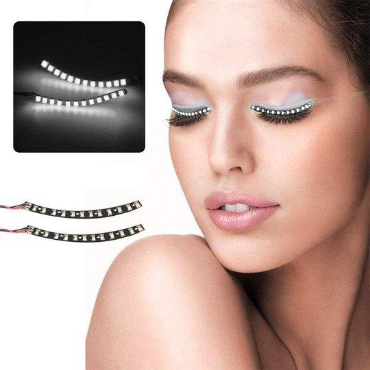 LED Ögonfransar - Vit