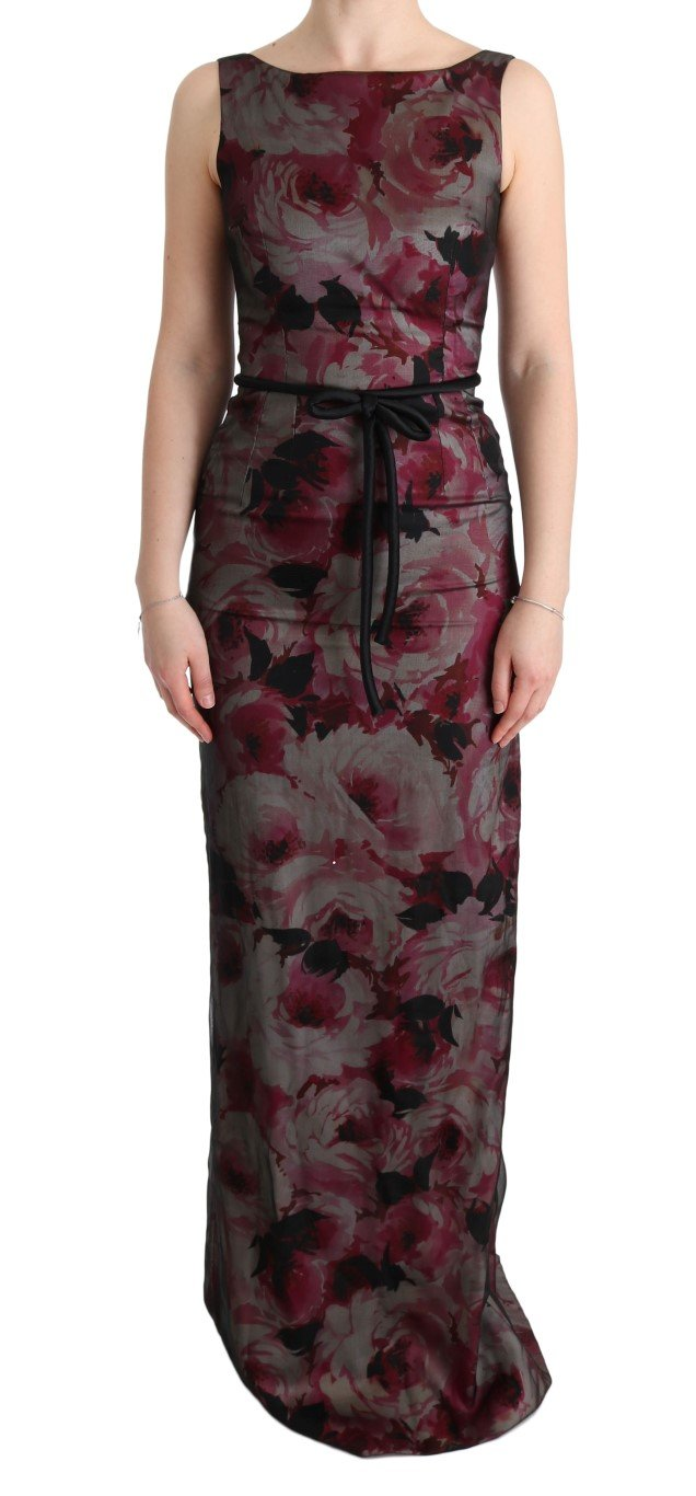 Dolce & Gabbana Women's Roses Silk Stretch Sheath Dress Multicolor SIG60634 - IT40|S
