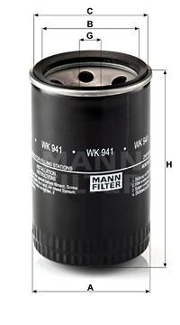 Polttoainesuodatin MANN-FILTER WK 941 (10)