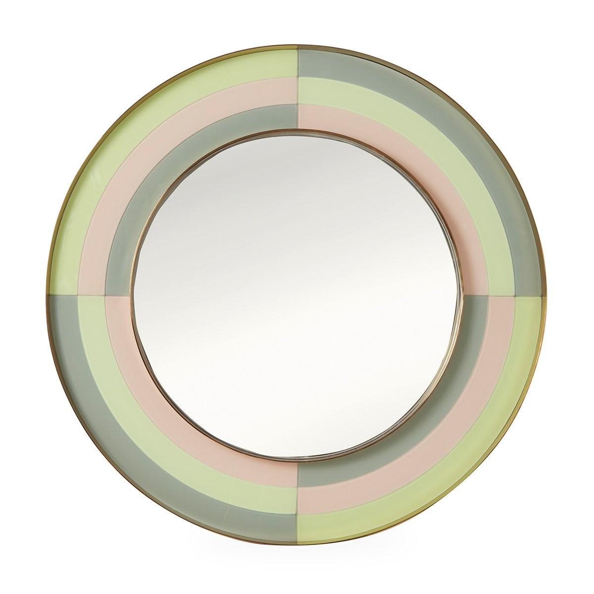 Jonathan Adler I Harlequin Round Mirror I Multi