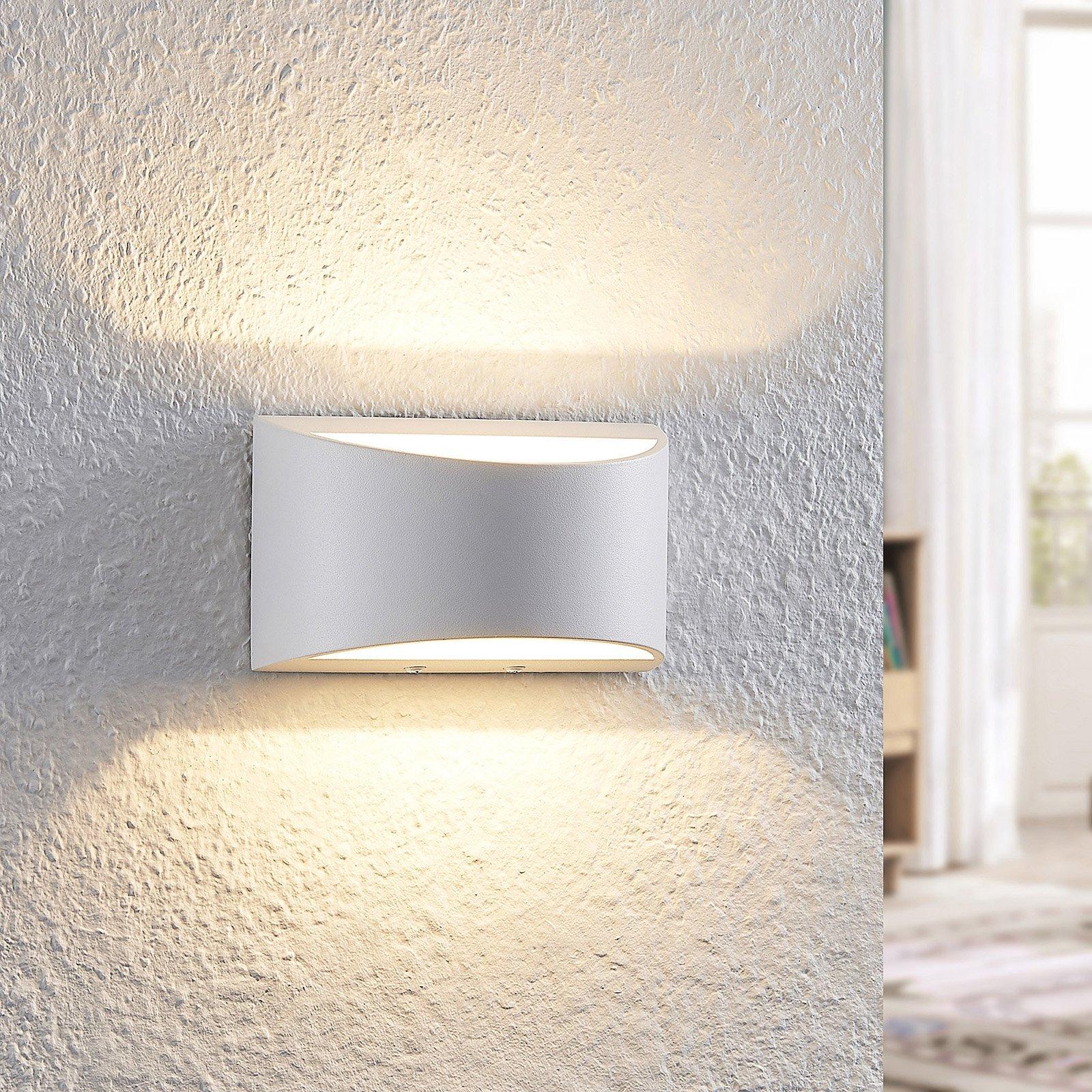 Arcchio Jasina LED-vegglampe, halvrund, hvit