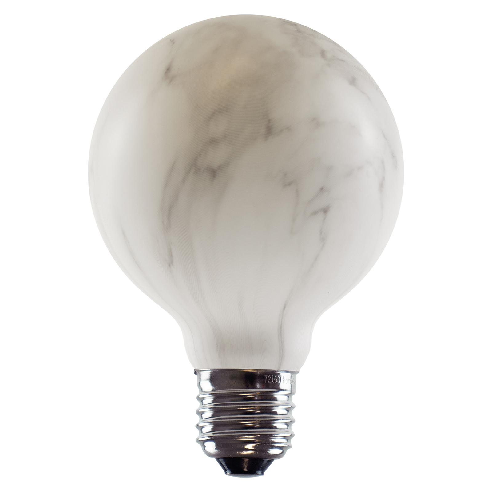 SEGULA LED-globe-lamppu G80 E27 8W marmorijäl