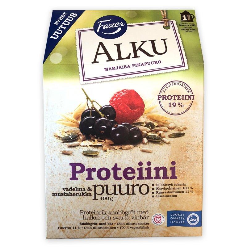 Proteiinipuuro Vadelma & Mustaherukka 400g - 43% alennus