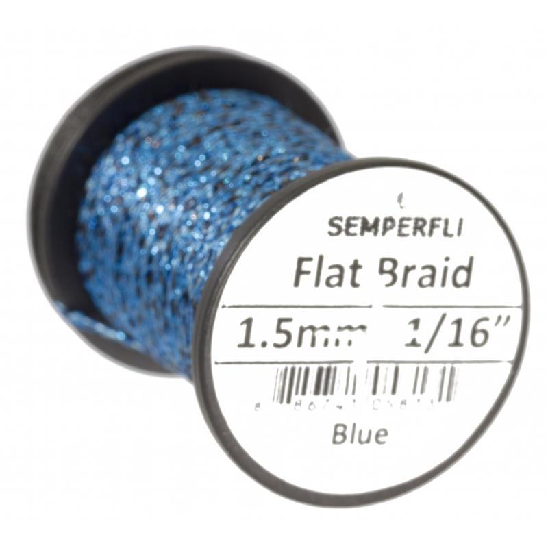 Semperfli Flat Braid 1,5mm Blue
