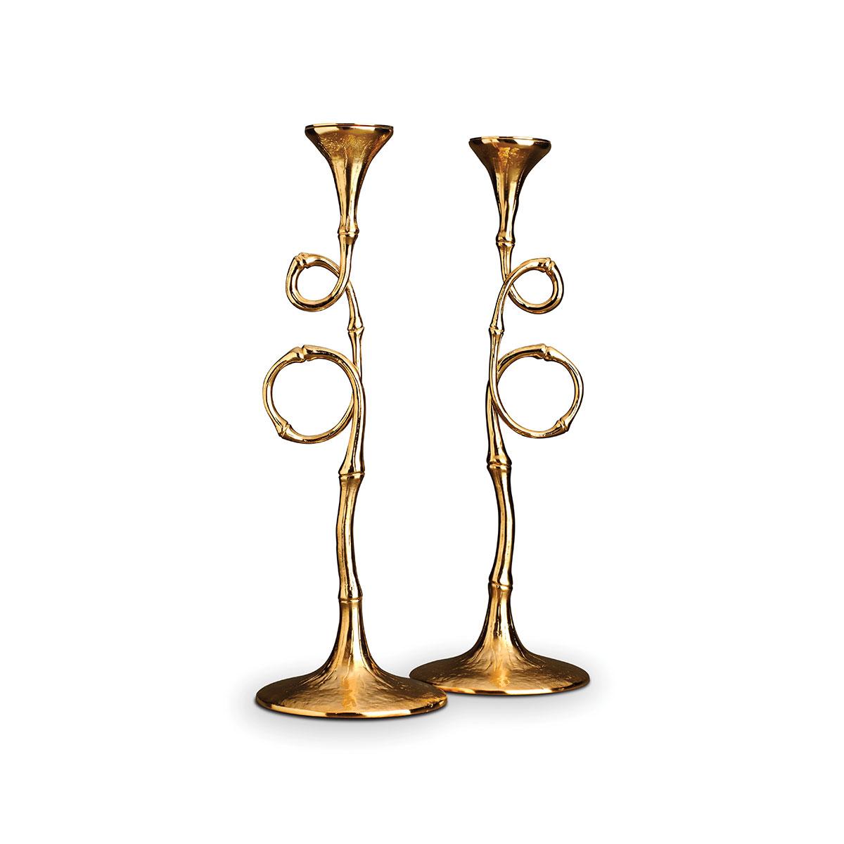 L'Objet I Evoca Candlesticks Gold