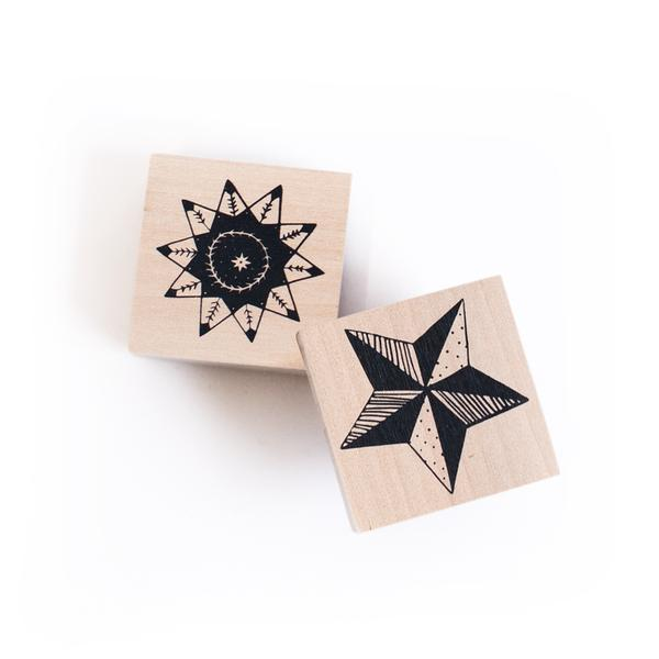 Star Stamps Set of 2