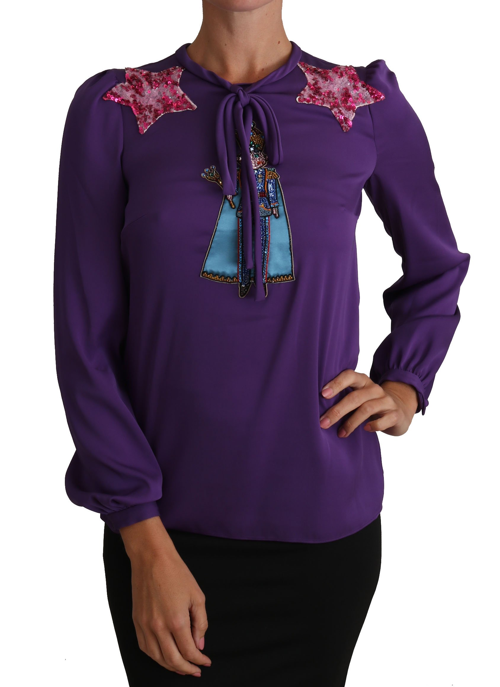 Dolce & Gabbana Women's Fairy Tale Tops Purple TSH2755 - IT36|XXS