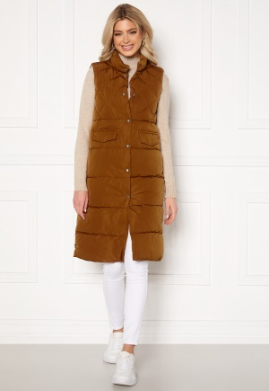 ONLY Stacy Quilted Waistcoat Toasted Coconut L