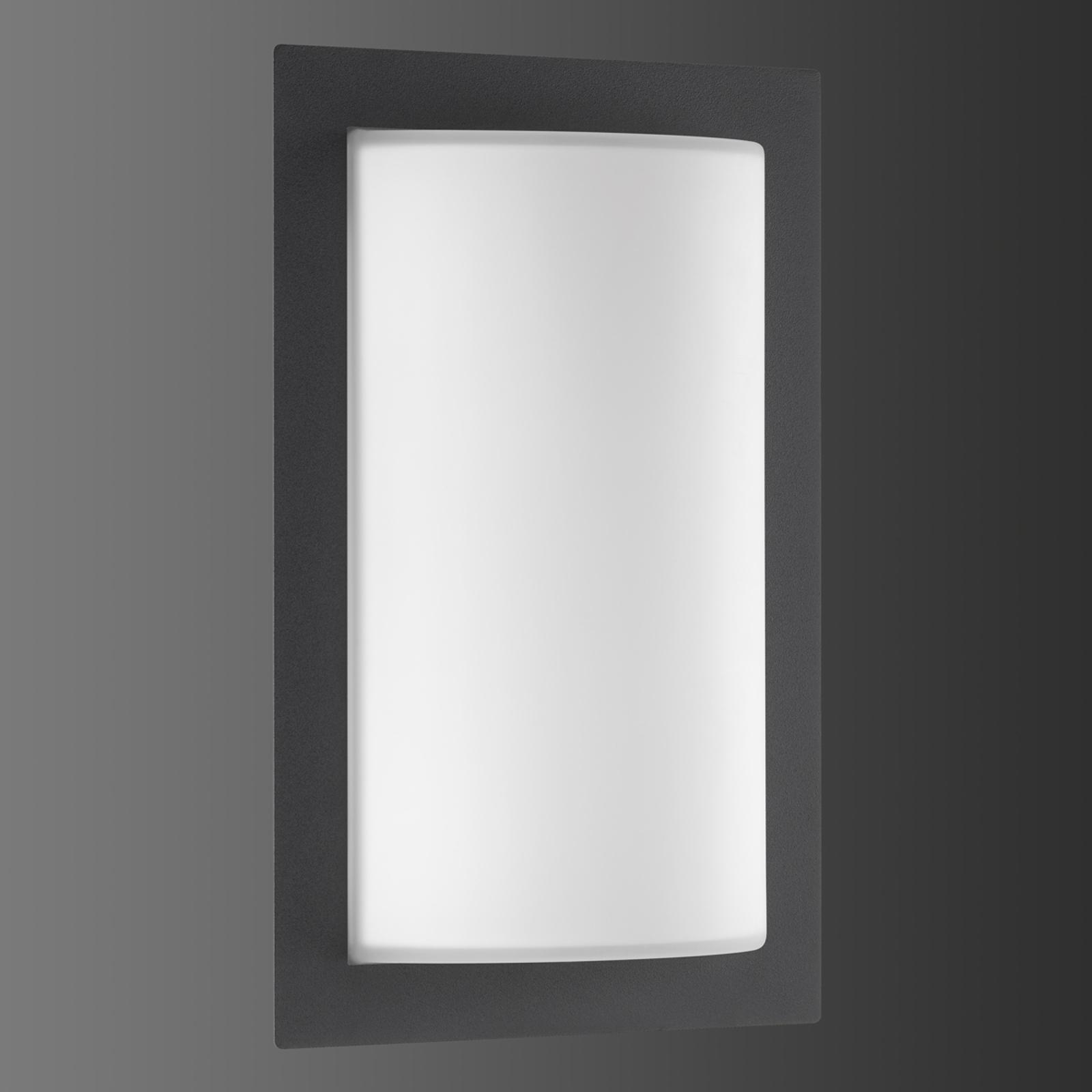 Grafiitinvärinen ulkoseinälamppu Luis LED-valolla