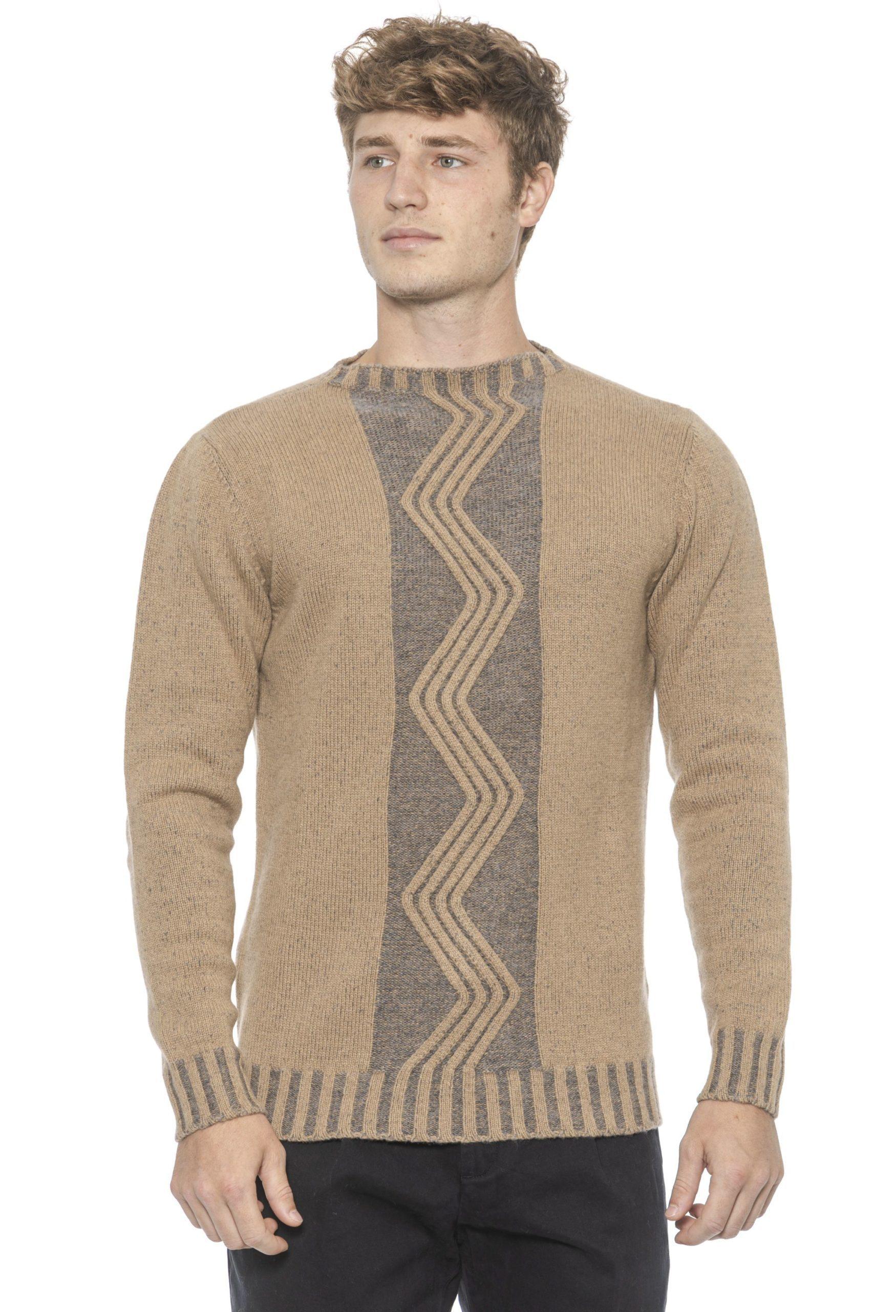 Alpha Studio Men's Biscottogri Sweater Beige AL1314568 - IT50 | L