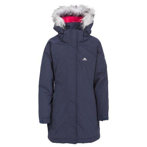 Trespass Kid's Waterproof Parka Jacket Various Colours Fame - Navy Tone 2 to 3 Years