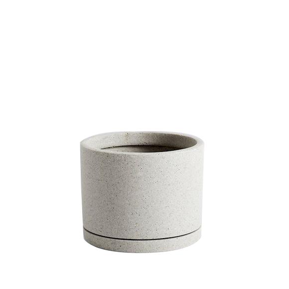 HAY - Plant Pot w/saucer Large - Grey
