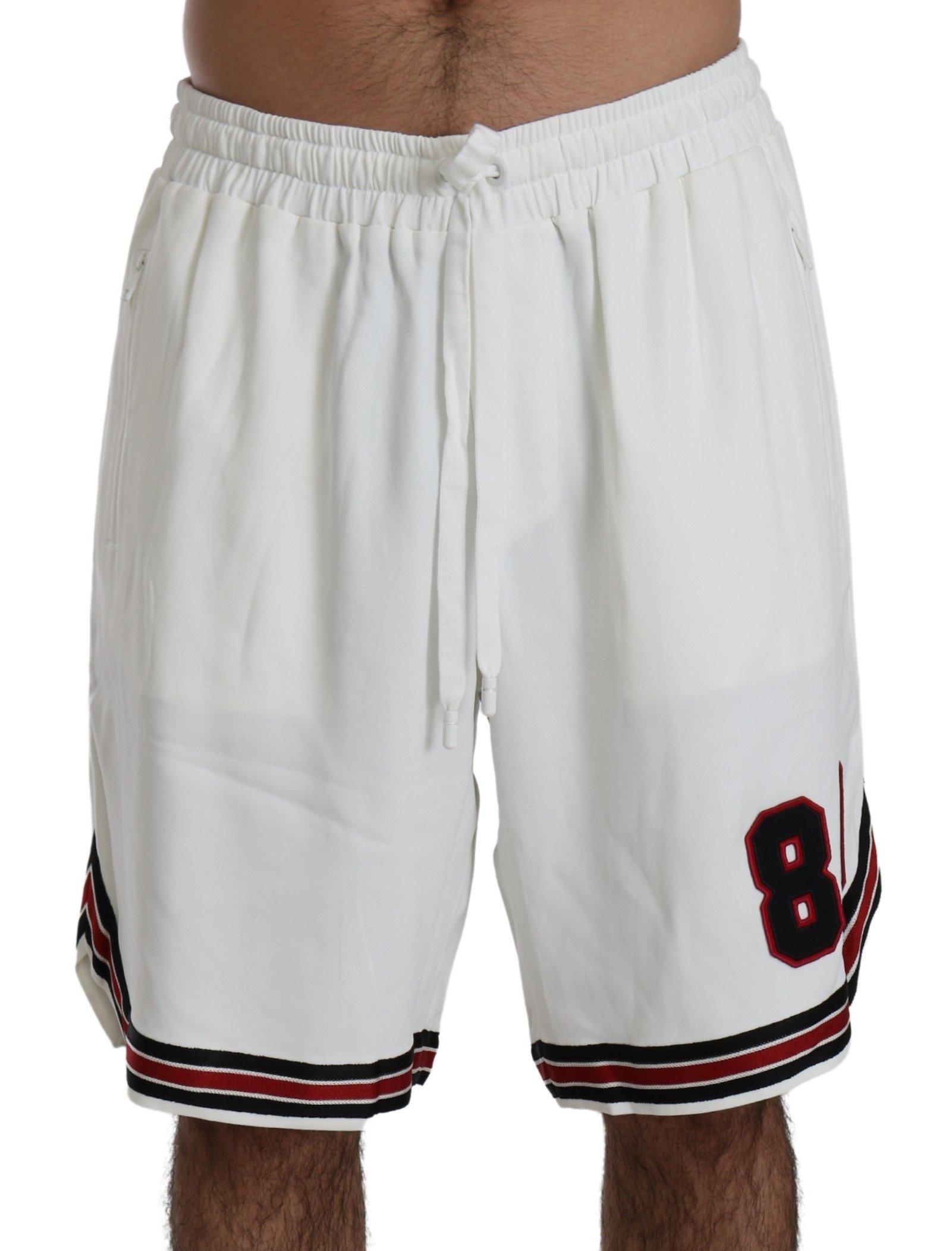 Dolce & Gabbana Men's Jersey Casual Sport Short White PAN71431 - IT52 | L