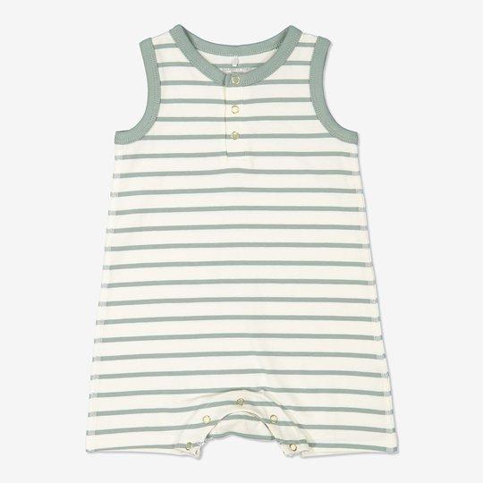 Stripet dress baby grønn
