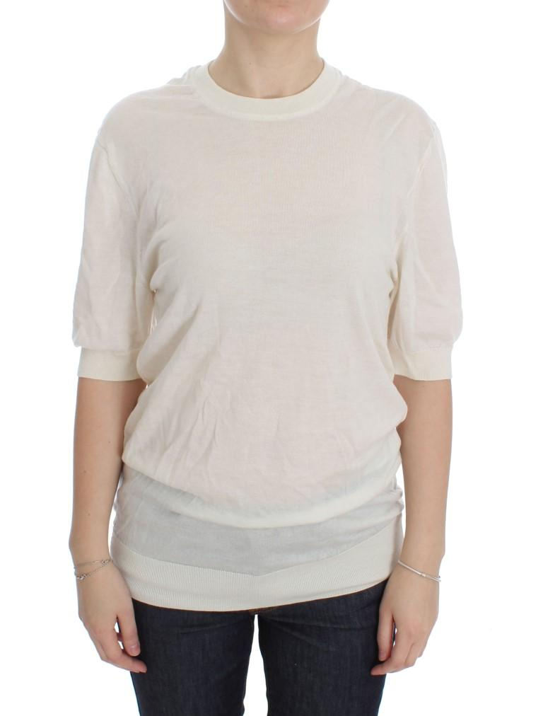 Dolce & Gabbana Women's Cashmere Sweater White DRE10087 - IT40|S