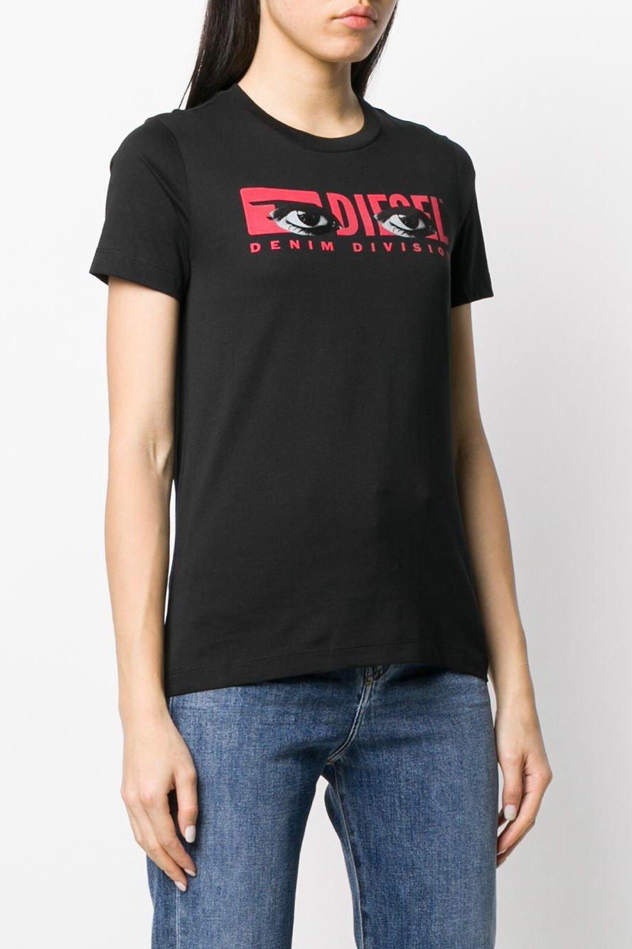 Diesel Women's T-Shirt Various Colours 293898 - black-4 2XS