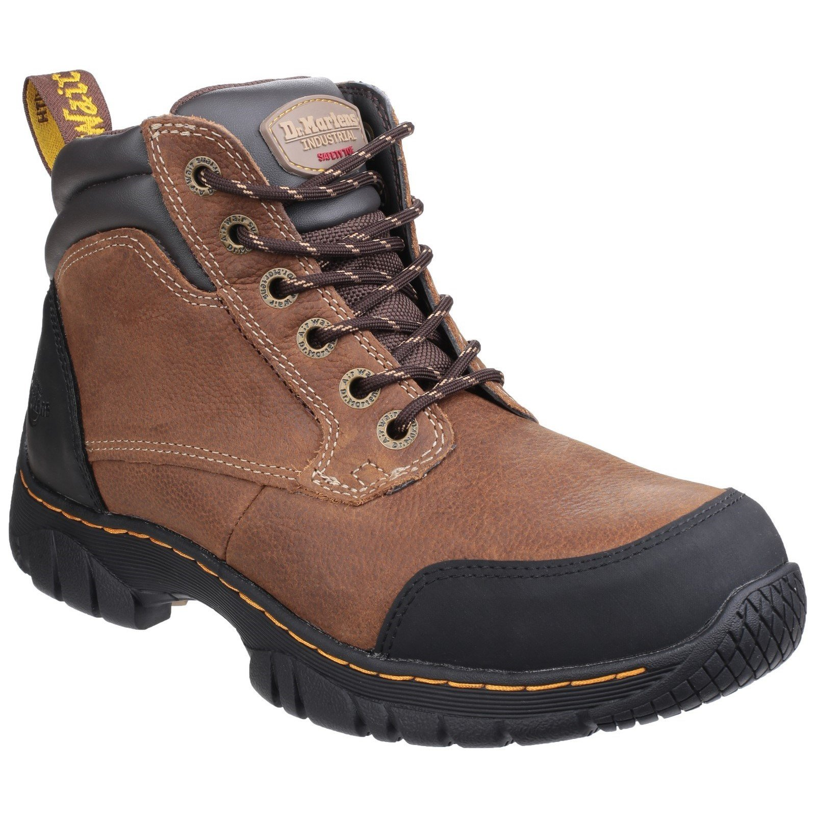 Dr Martens Unisex Riverton SB Lace up Hiker Safety Boot 24534 - Brown 3