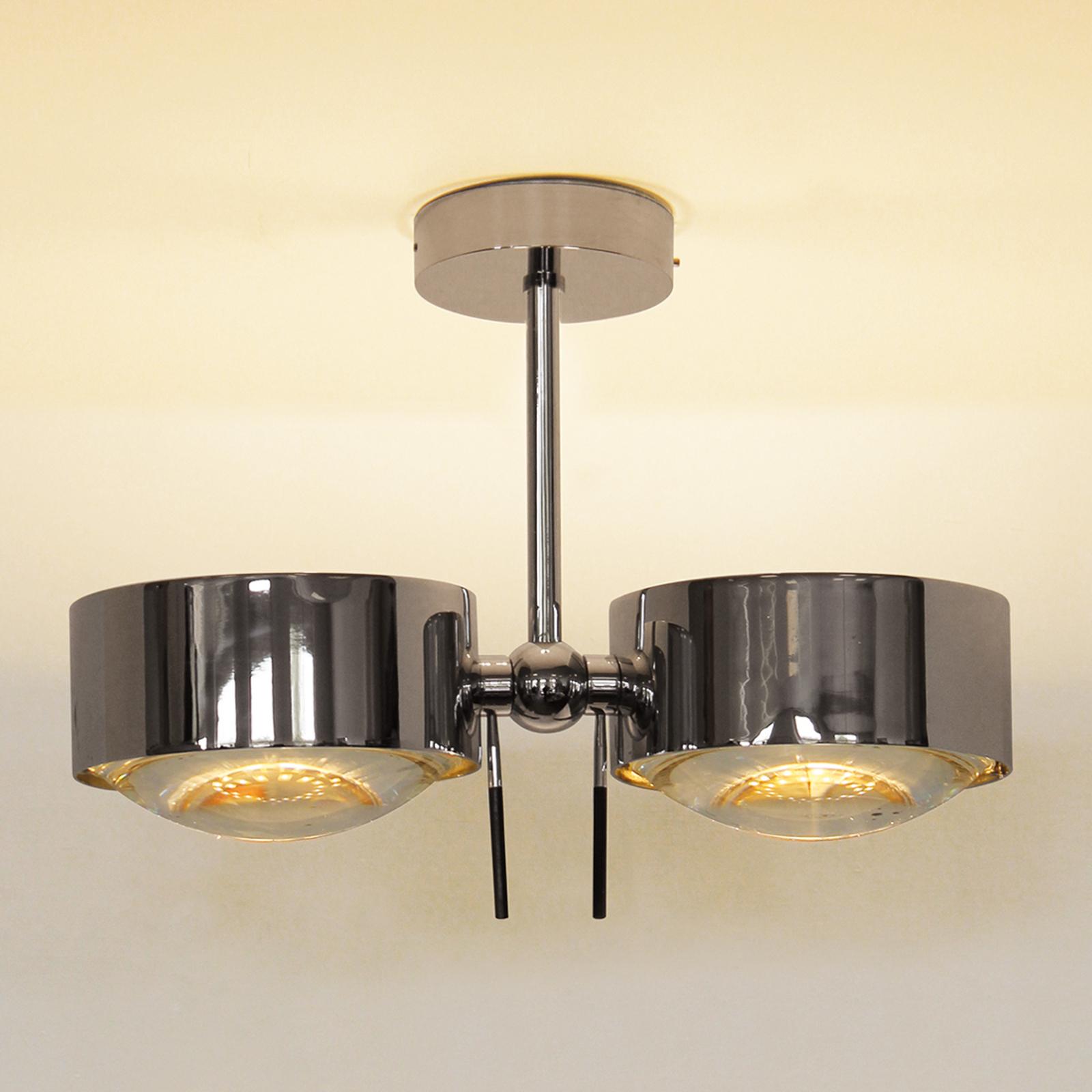 2-lamppuinen kattovalaisin PUK SIDES, kromi, 10 cm