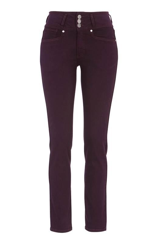 Cellbes Raka jeans med hög midja Jenny Plommon