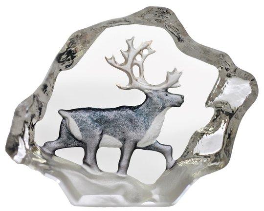 Målerås Glasbruk - Wildlife Ren miniatyr