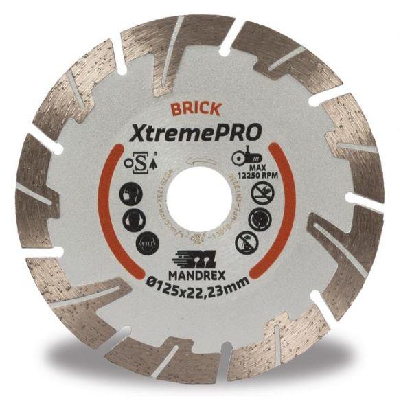 Mandrex Bricks XtremePRO Timanttikatkaisulaikka 125 mm