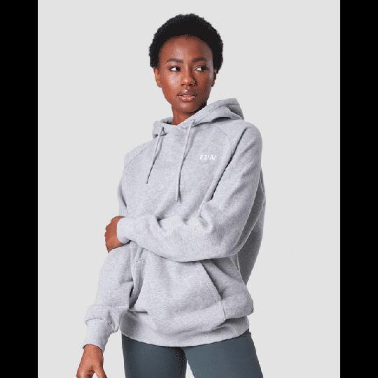 Essential Hoodie, Light Grey Melange