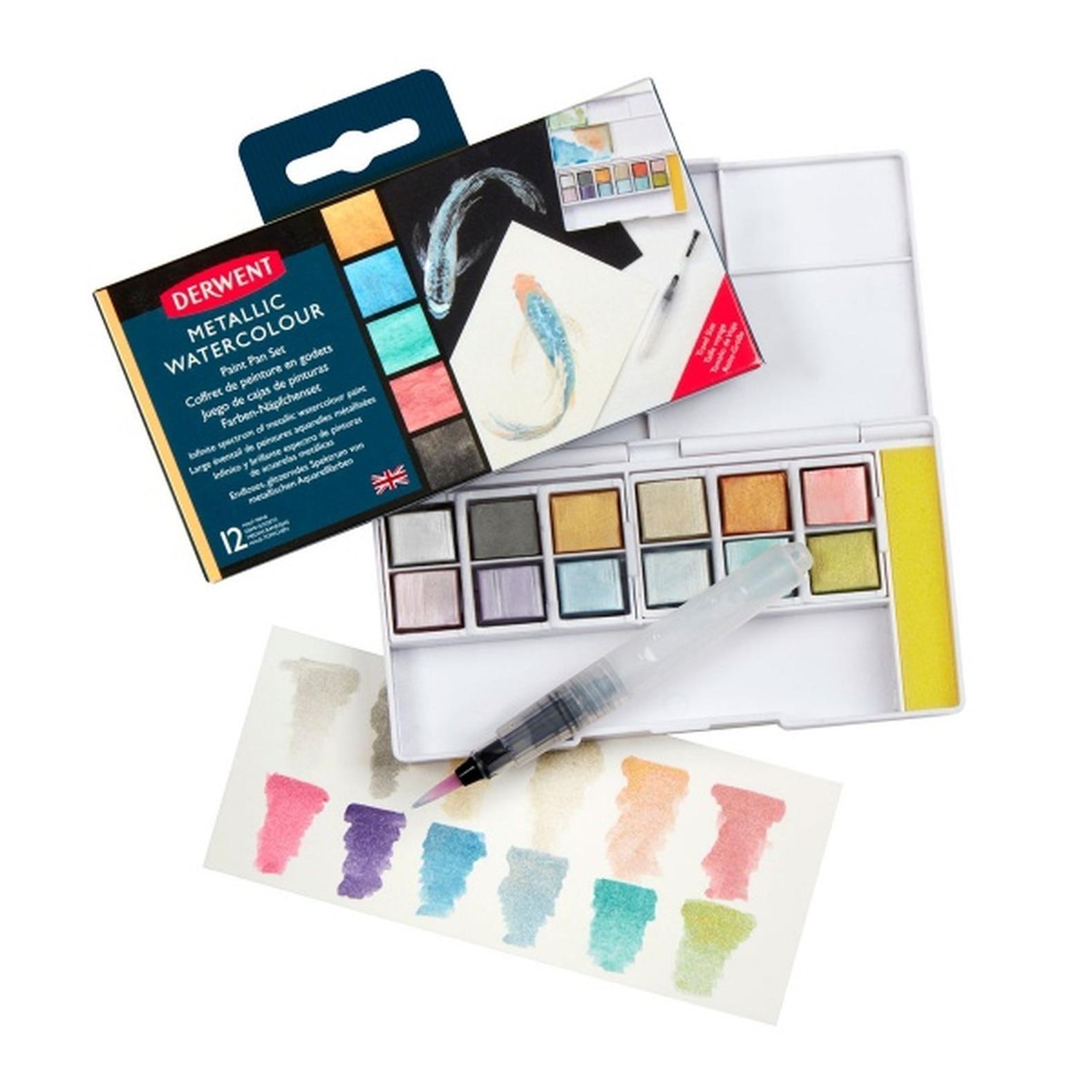 Derwent - Metallic Paint 12 Pan Palette (603058)