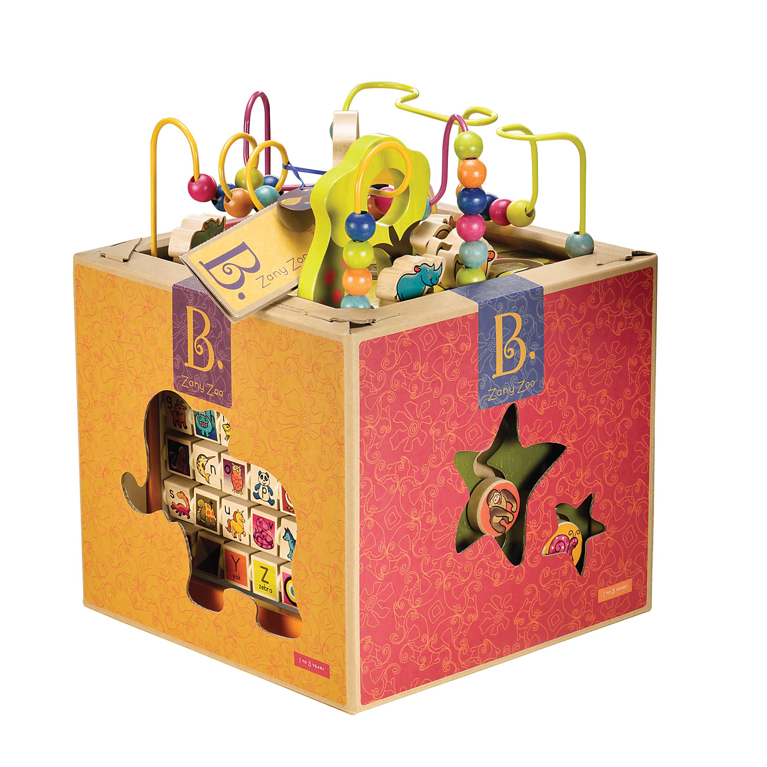 B. Toys - Zany Zoo Wooden activitycenter (1004)