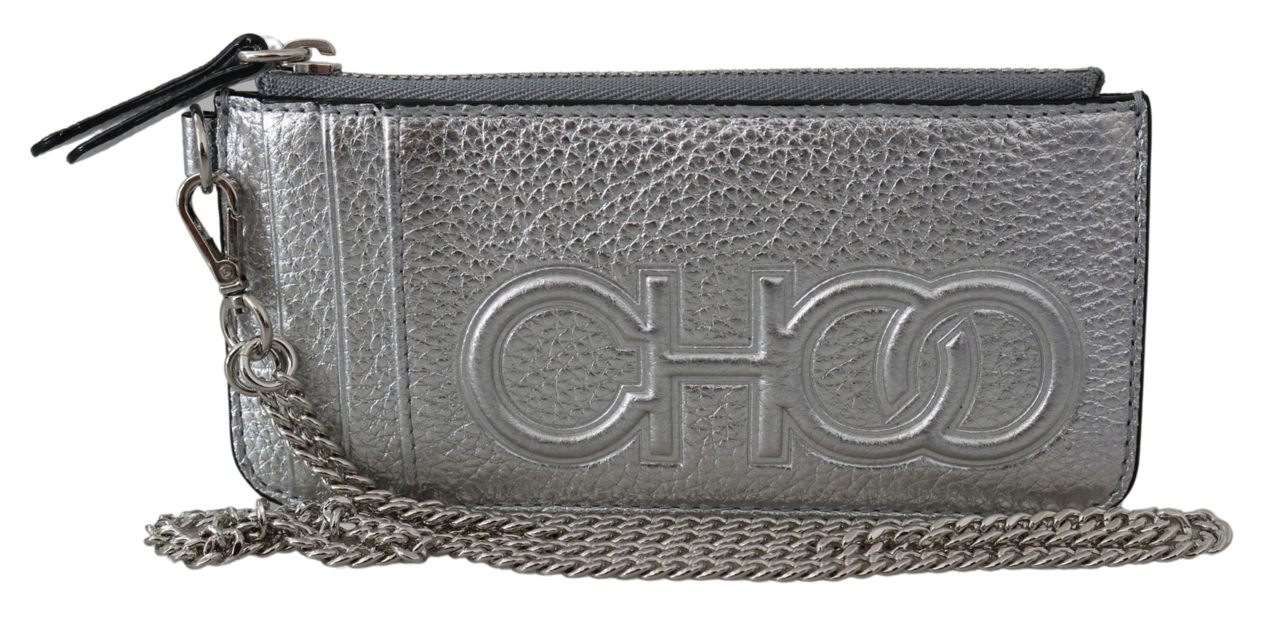 Jimmy Choo Women's Lusse Chain Wallet Silver 1435997