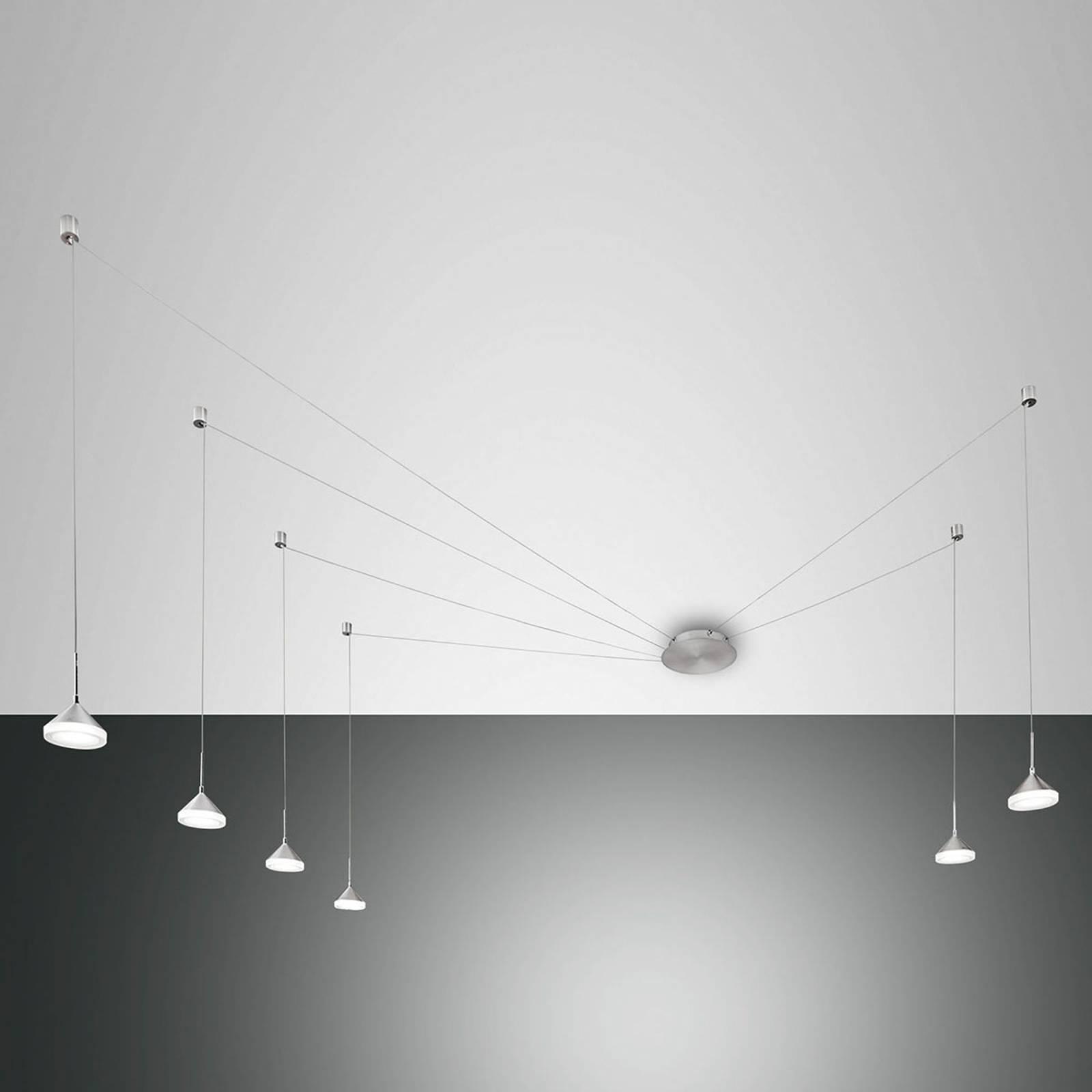 6-lamppuinen LED-riippuvalaisin Isabella