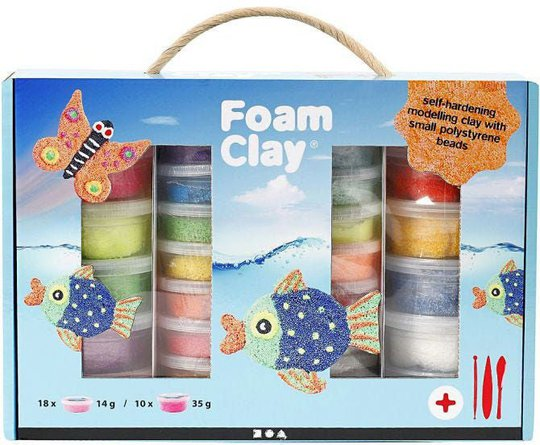 Foam Clay Gaveeske Blandede Farger