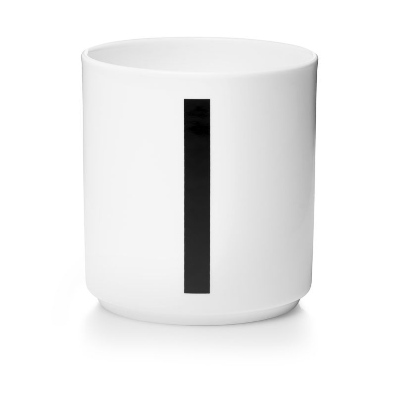 Design Letters - Personal Porcelain Cup I - White