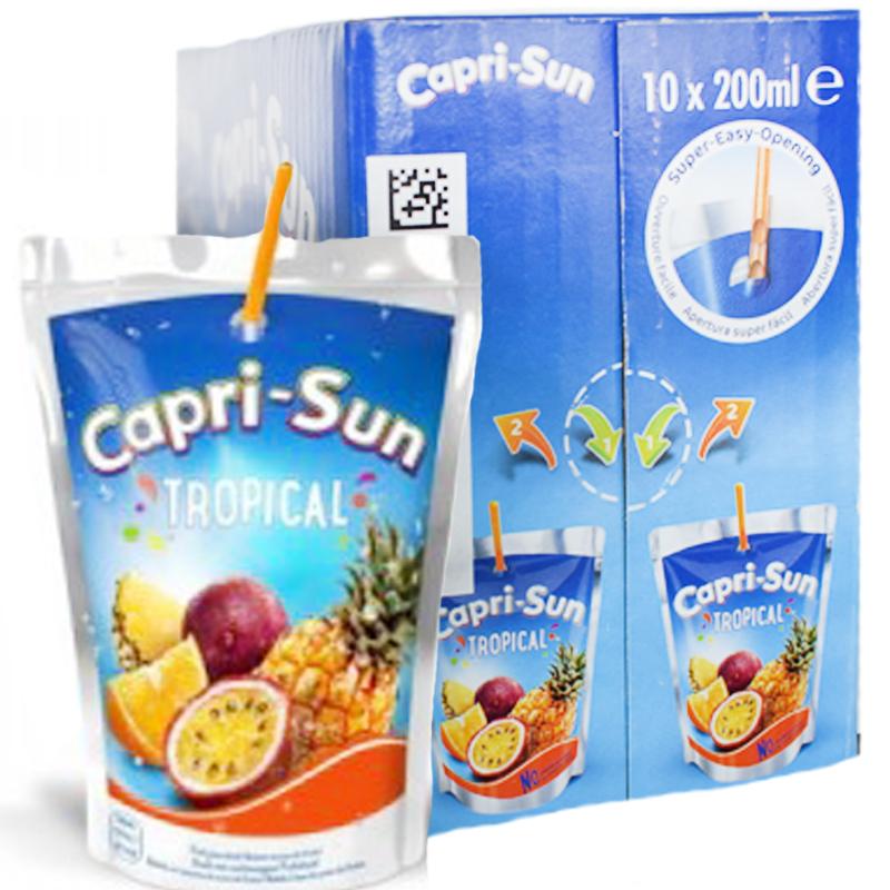 """Mehu """"Capri-Sun Tropical"""" 10 x 200 ml - 20% alennus"""