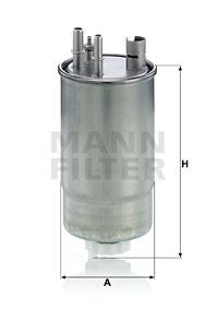 Polttoainesuodatin MANN-FILTER WK 853/24