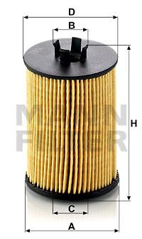 Öljynsuodatin MANN-FILTER HU 612/1 x