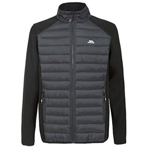 Trespass Men's Saunter Fleece Hybrid Jacket Black T_Trespass Saunter - S Black