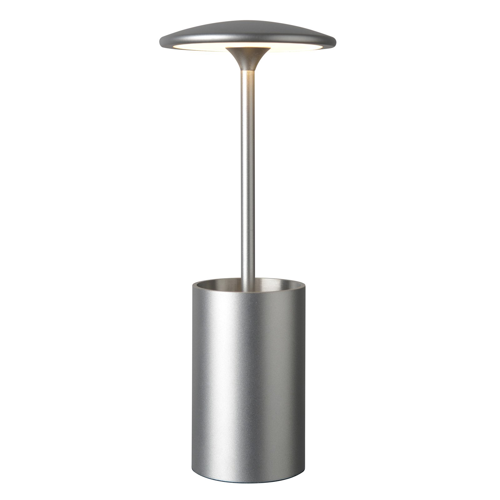 LED-bordlampe Pott med beholder, sølv
