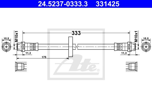 Jarruletku ATE 24.5237-0333.3
