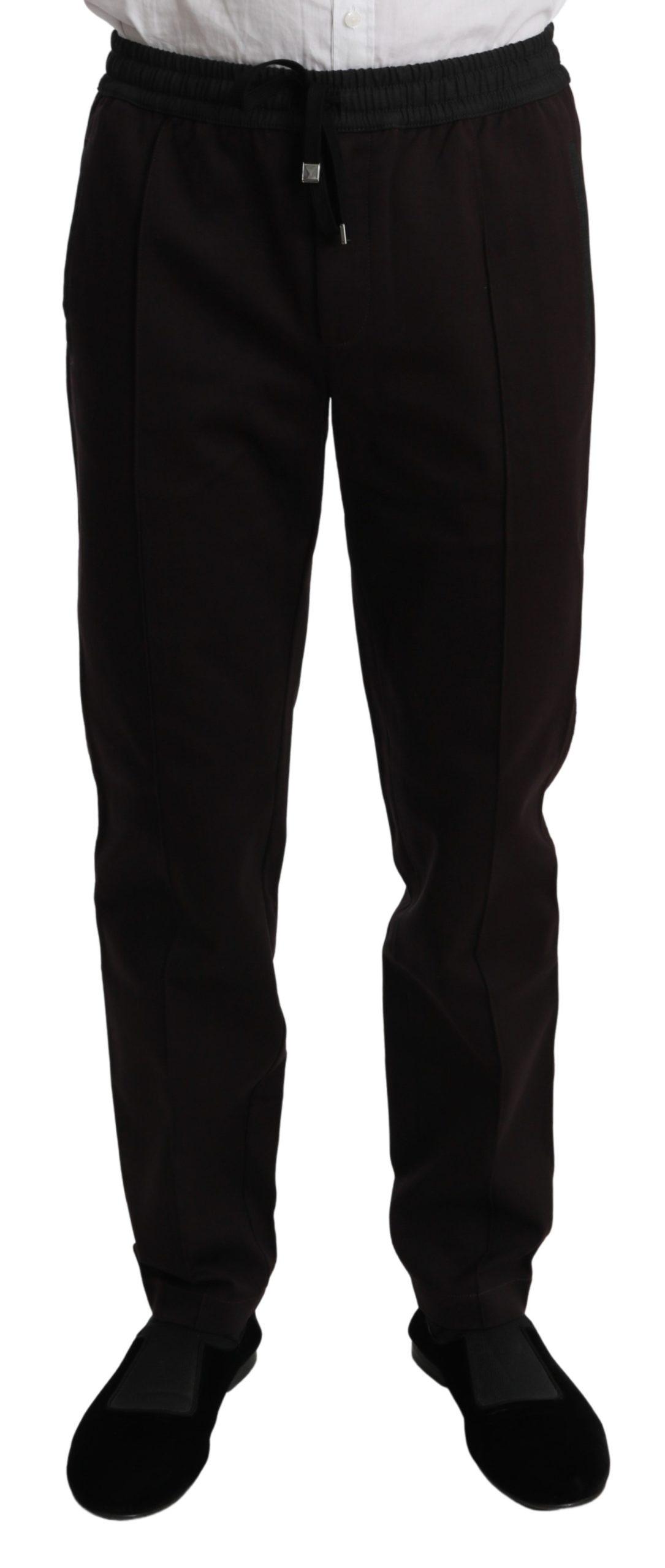 Dolce & Gabbana Men's Sweatpants Cotton Trouser Bordeaux PAN70997 - IT48   M