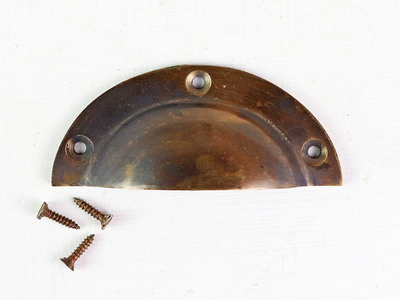 Vintage Style Brass Cup Handle Medium