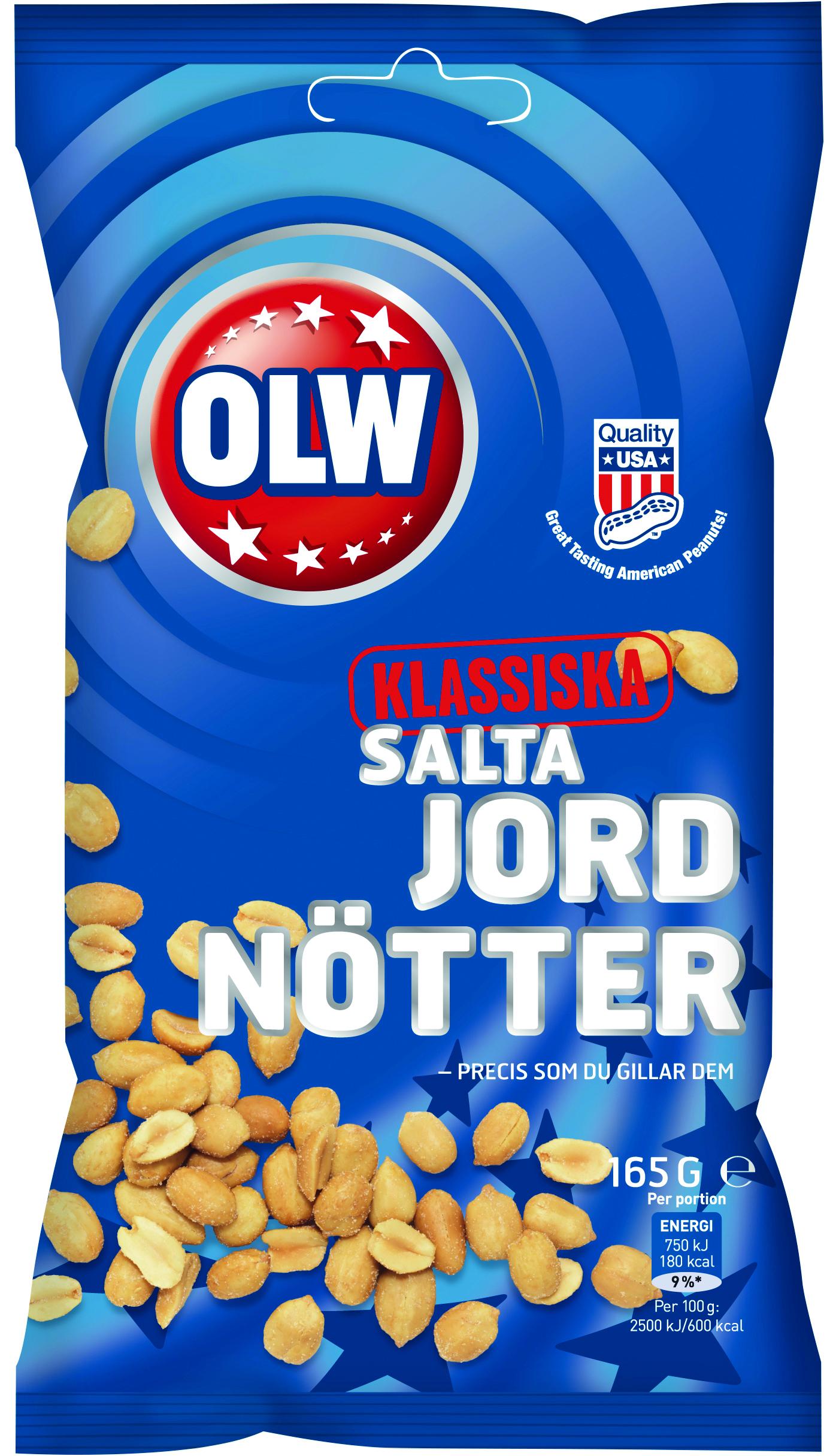 SALTA JORDNÖTTER OBS! 165 GR HELLÅDA